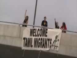 """AW@L said on the highway : """"Welcome Tamils Migrants"""""""
