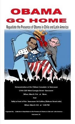 A CALL TO ACTION FROM THE COLLECTIVE IN REPUDIATION TO THE PRESENCE OF OBAMA IN CHILE AND LATIN AMERICA