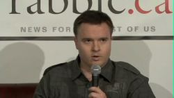 Derrick O'Keefe during the infamous debate with Harsha Walia