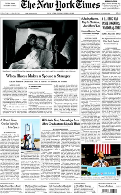 NYT New York edition front page, May 6 2012