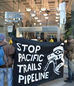 Statement from the Vancouver Demonstration Against the Pacific Trails Pipeline