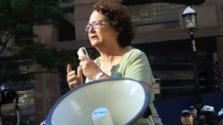 Rebick speaking at a prisoner support rally just days after she called for the arrest of militants