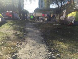 Ten Year Tent City to Defy Trespass Notice