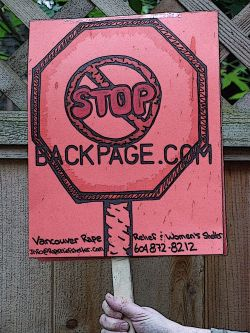 STOP BACKPAGE.COM PROTEST