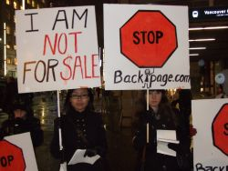 STOP BACKPAGE.COM protest, Vancouver, November 16, 2011