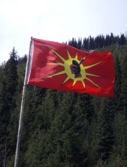 Warrior flag flies at Sutikalh