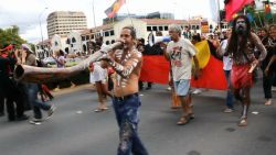 Thousands march for Aboriginal sovereignty in Canberra