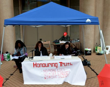 Honouring Truth - public reading of the independent report.    photo: murray bush - flux photo