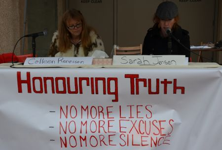 Honouring Truth - public reading of the independent report  photo: murray bush - flux photo
