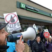 Pipeline rally targets Kinder Morgan & TD Bank